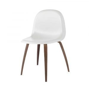 Gubi 3d Tuoli Walnut / White Cloud