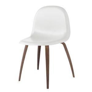 Gubi 5 Tuoli Jalopähkinä / Valkoinen