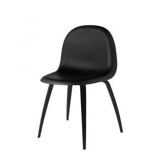 Gubi 5 Tuoli Musta / Musta H45 Cm