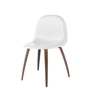 Gubi 5 Tuoli Saksanpähkinä / Valkoinen H45 Cm