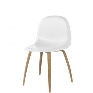 Gubi 5 Tuoli Tammi / Valkoinen H45 Cm