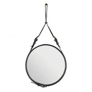 Gubi Adnet Peili Pyöreä Musta 45 Cm
