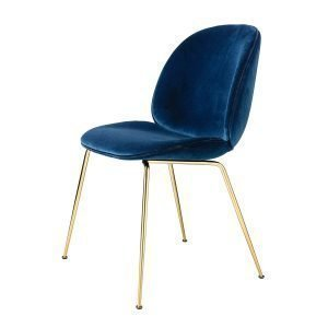 Gubi Beetle Dining Chair Tuoli Messinki / Velluto Cotone 420
