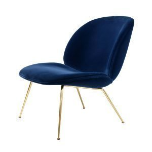 Gubi Beetle Lounge Chair Tuoli Messinki / Velluto Cotone 420