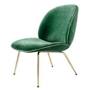 Gubi Beetle Lounge Chair Tuoli Vihreä