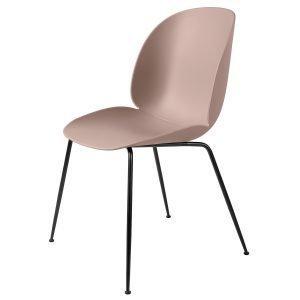 Gubi Beetle Tuoli Musta / Vaaleanpunainen