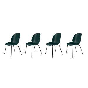 Gubi Beetle Tuoli Musta / Vihreä 4-Pakkaus