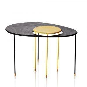 Gubi Kangourou Pöytä Musta / Keltainen