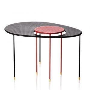 Gubi Kangourou Pöytä Musta / Punainen