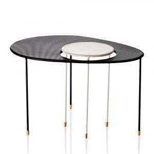 Gubi Kangourou Pöytä Musta / Valkoinen
