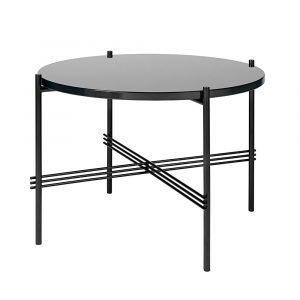 Gubi Ts Pöytä Medium Graphite Black Glass H41 Cm Ø55 Cm