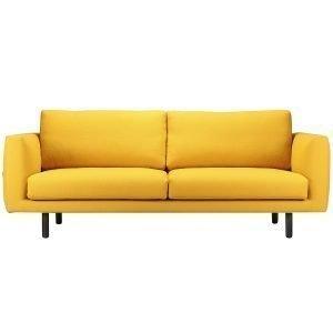 Hakola Cosy Pocket Wool 3-Istuttava Sohva Hallingdal 65/764 Tummansininen Mustapetsatut Jalat