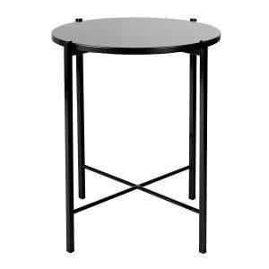 Hakola Round Sivupöytä Musta 43 Cm