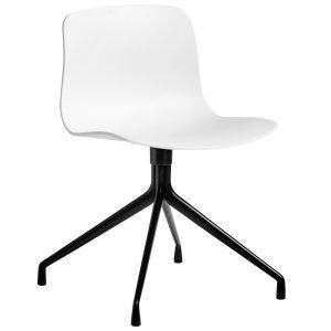 Hay About A Chair Aac10 Tuoli Valkoinen Istuin Musta Jalka
