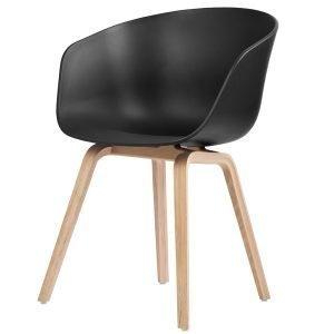 Hay About A Chair Aac22 Tuoli Musta Saippuioitu Tammi