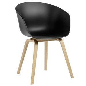 Hay About A Chair Aac22 Tuoli Saippuoitu Tammi Pehmeä Musta