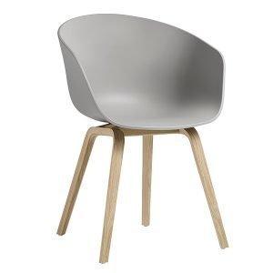 Hay About A Chair Aac22 Tuoli Tammi Concrete Grey Mattalakattu