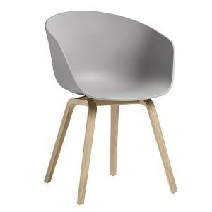 Hay About A Chair Aac22 Tuoli Tammi Concrete Grey Saippuoitu