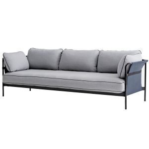 Hay Can Sohva 3-Istuttava Musta / Sininen Runko Surface 120