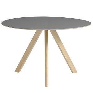 Hay Copenhague Cph20 Pyöreä Pöytä Mattalakattu Harmaa Lino 120 Cm