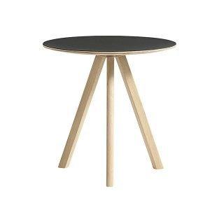 Hay Copenhague Cph20 Pyöreä Pöytä Mattalakattu Musta Lino 50 Cm