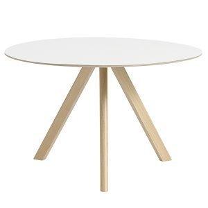 Hay Copenhague Cph20 Pyöreä Pöytä Mattalakattu Tammi Valkoinen Lam. 120 Cm