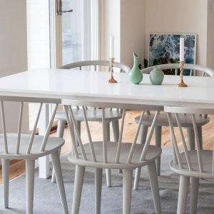 Homeroom Backagård Pöytä Ja 6 Bullerbyn Tuolia Monivärinen