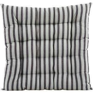 House Doctor Stripe By Stripe Tyyny Musta / Harmaa 50x50 Cm
