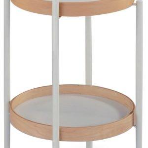 Huddinge Tarjoilupöytä Valkoinen / Luonnonväri