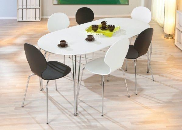Interlink Jatkettava Ruokapöytä Ovali 90x140-180 Cm