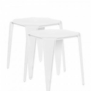 Jotex Laholm Pöydät / Jakkarat Valkoinen 2-Pakkaus