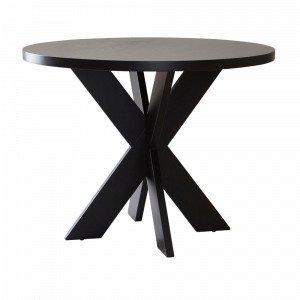 Jotex Lugnvik Ruokapöytä Musta Ø 100 Cm