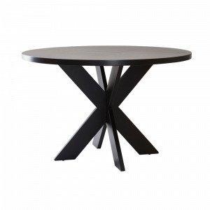 Jotex Lugnvik Ruokapöytä Musta Ø 120 Cm