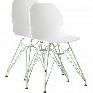 Jotex Nagoya Ruokapöydän Tuolit Valkoinen 2-Pakkaus