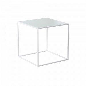 Jotex Nyland Sohvapöytä Lasia Valkoinen 40x40 Cm