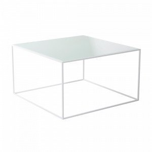 Jotex Nyland Sohvapöytä Lasia Valkoinen 70x70 Cm