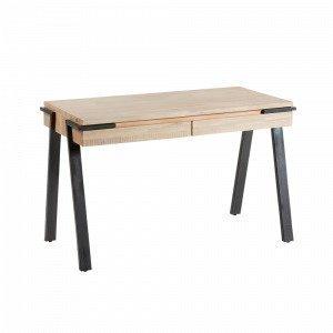Julia Disset Kirjoituspöytä Metallia / Akaasiapuuta Luonnonvärinen 125x60 Cm