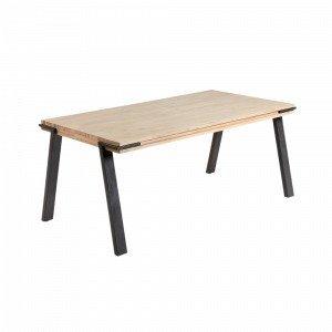 Julia Disset Pöytä Metallia / Akaasiapuuta Luonnonvärinen 160x90 Cm