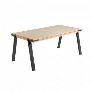 Julia Disset Pöytä Metallia / Akaasiapuuta Luonnonvärinen 200x95 Cm