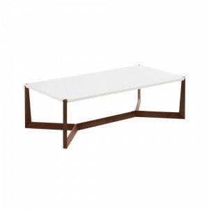 Julia Duplex Sohvapöytä Pähkinäpuuta / Valkoinen