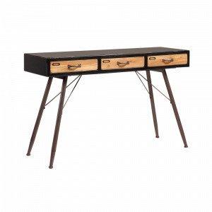 Julia Free Sivupöytä Musta / Puu 120x40 Cm