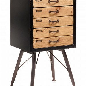 Julia Free Sivupöytä Mustaa Puuta Musta 46x85 Cm