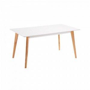 Julia Meety Pöytä Valkoista Mdf Levyä Valkoinen 160x90 Cm