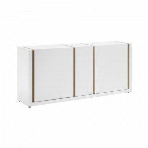 Julia Qu Sivupöytä Valkoiseksi Maalattu Mattapinta Valkoinen 174x79 Cm