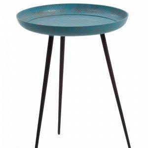 Julia Sacke Sivupöytä Sinistä Metallia Sininen Ø 40 Cm