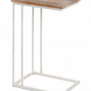 Julia Shadow Sivupöytä Valkoista Metallia / Puuta Luonnonvärinen