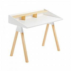 Julia Stick Kirjoituspöytä Saarnia Mattavalkoinen Valkoinen 120x65 Cm