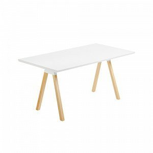 Julia Stick Pöytä Saarnia Mattavalkoinen Valkoinen 140x80 Cm
