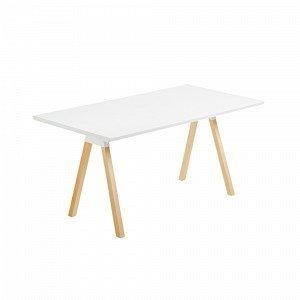 Julia Stick Pöytä Saarnia Mattavalkoinen Valkoinen 180x90 Cm