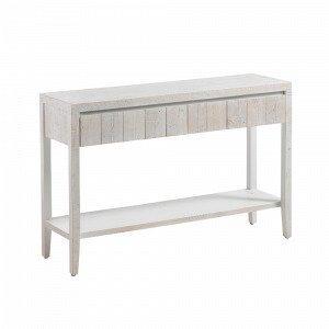 Julia Woody Apupöytä Valkopestyä Mäntyä Valkoinen 120x78 Cm